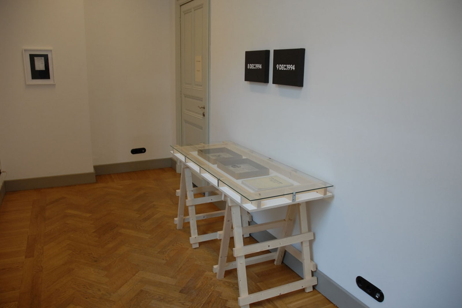 Reading On Kawara as installed at Out of Storage at de Timmerfabriek, Maastricht, NL 2011