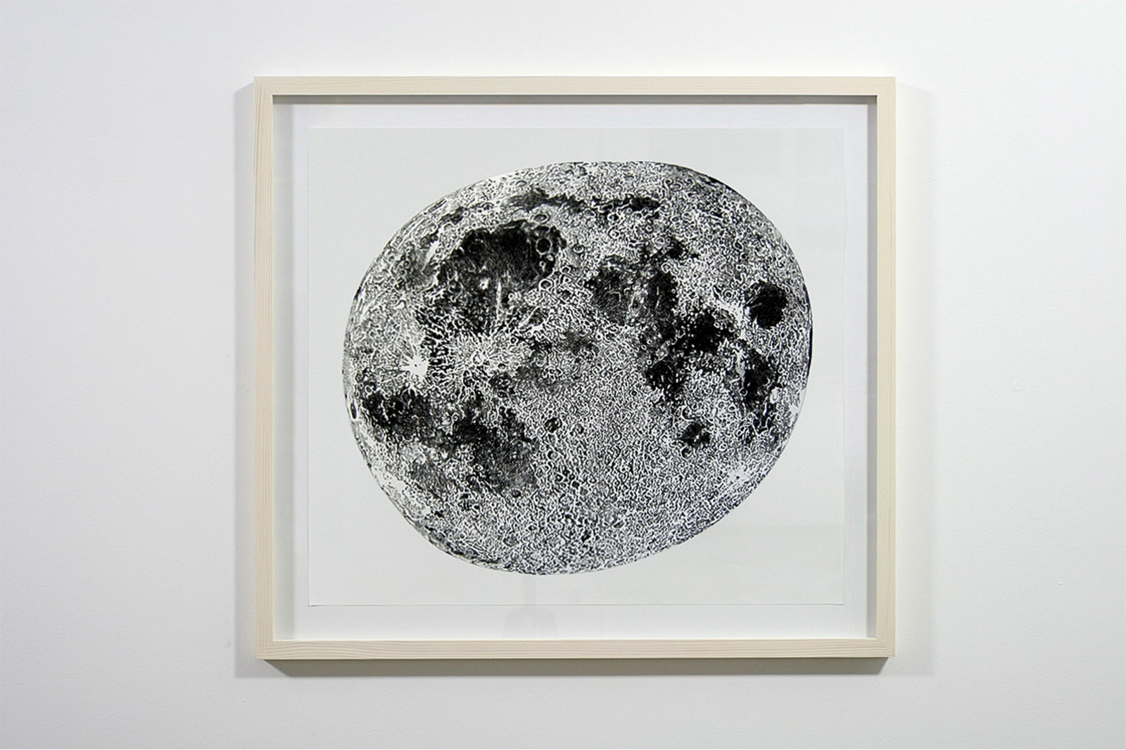 Handmade drawing of the moon - Charcoal on paper, 2008