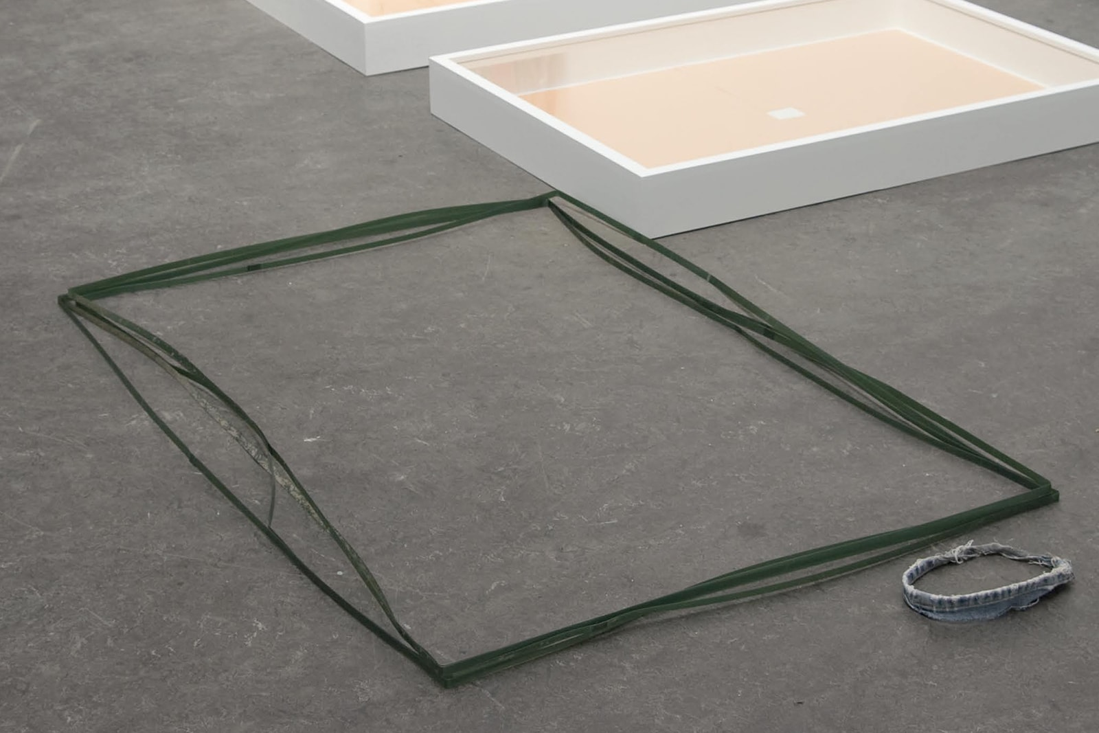 126 × 84 × 80, gerlach en koop, 2011, strap wire from a pallet of paving stones