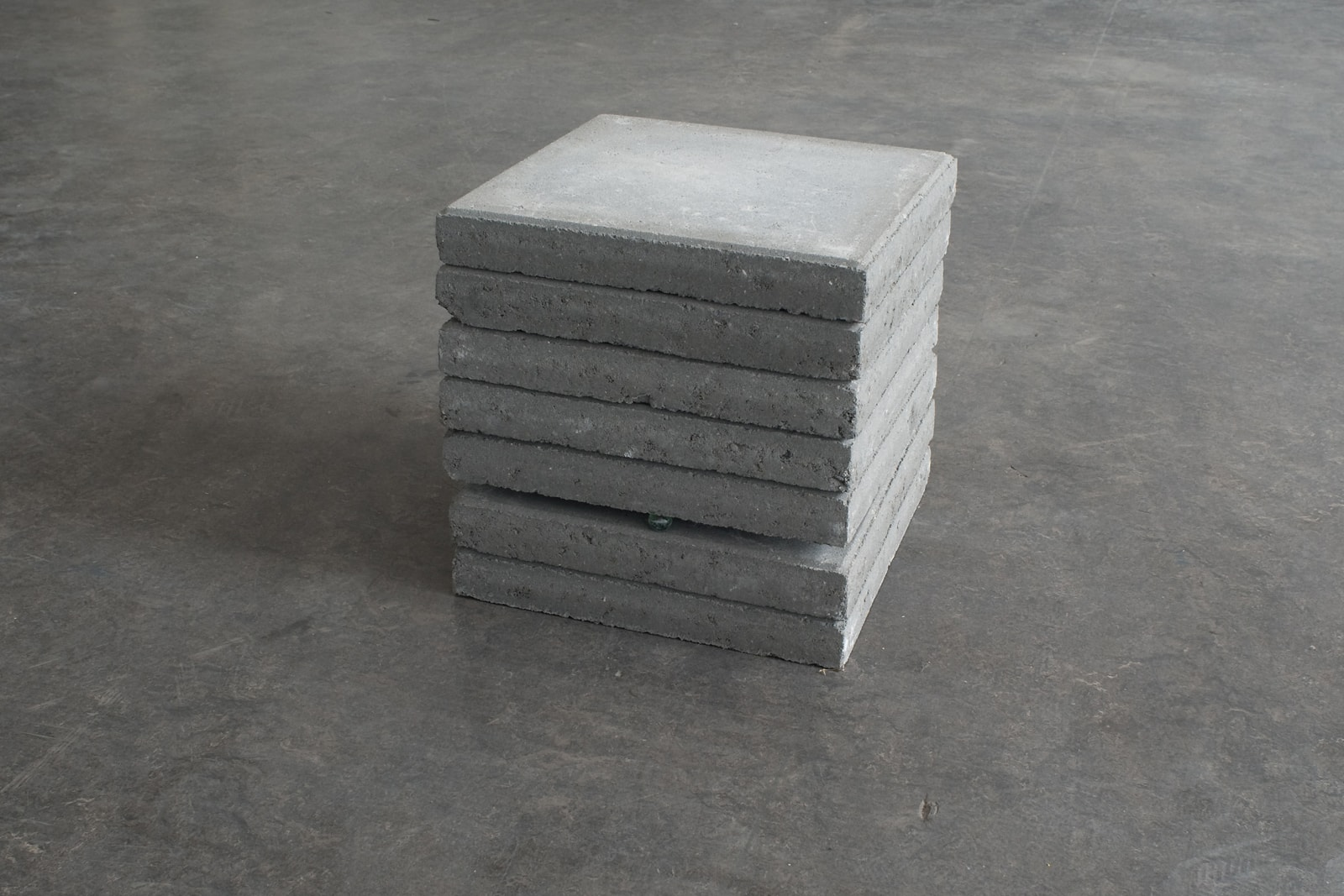 Untitled, Martijn in 't Veld, 2011, paving stones, glass marble