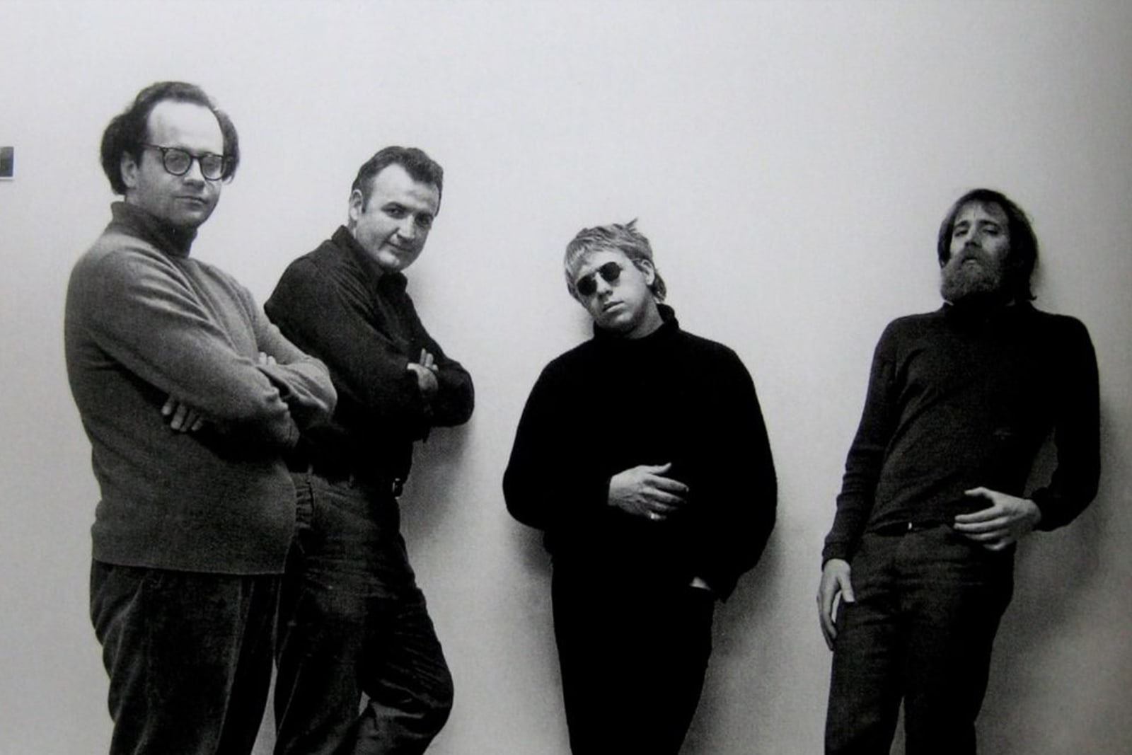 Ugly kids? From left to right: Robert Barry, Douglas Hueber, Joseph Kosuth, Lawrence Wiener