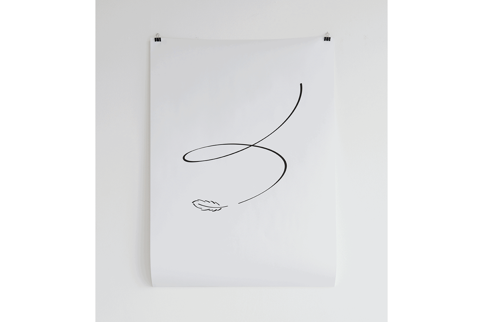 To Write Falling Or To Fall Writing - Laser-print on paper, 2011