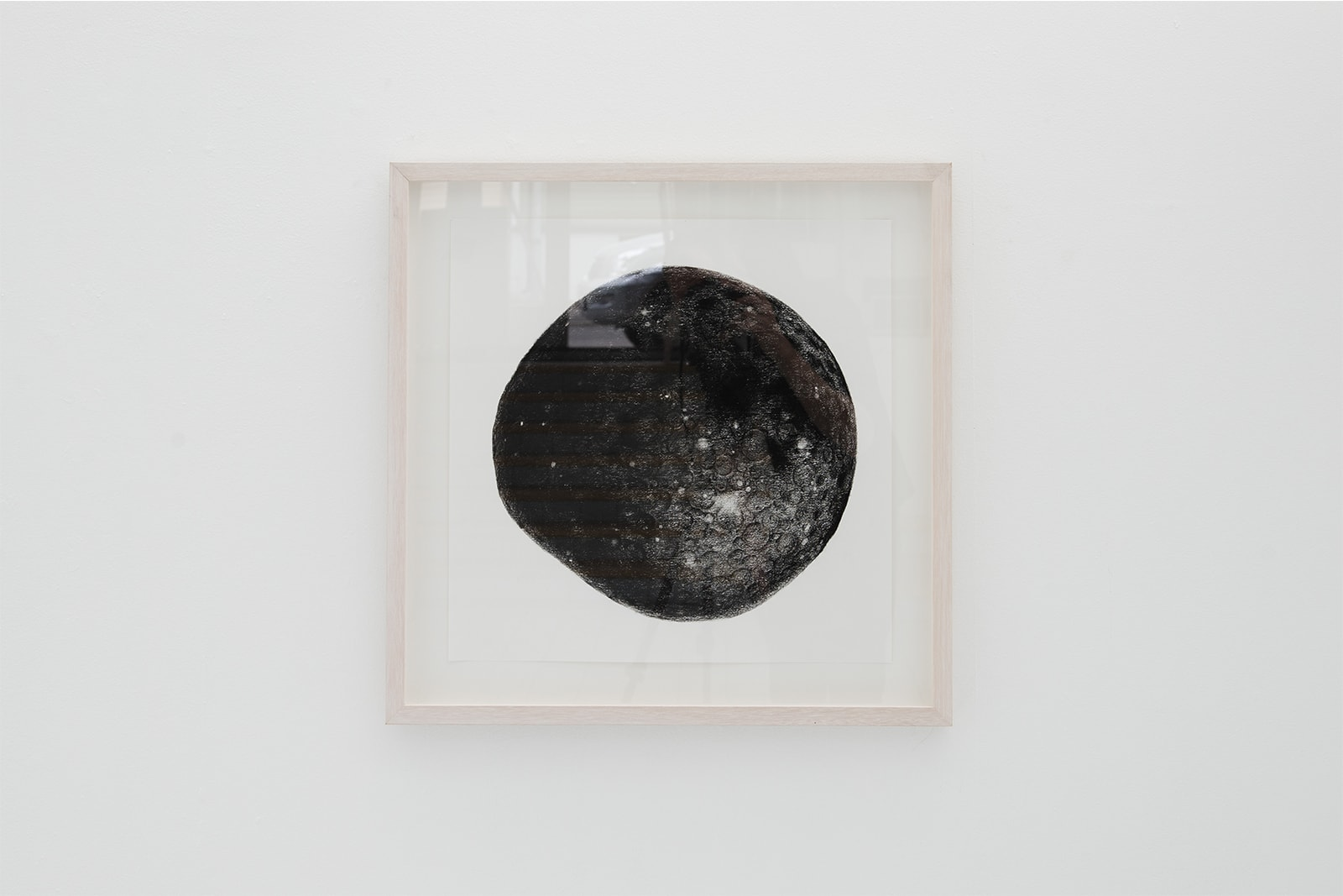 A Handmade Drawing Of The Moon - Charcoal and conté on paper, 2008