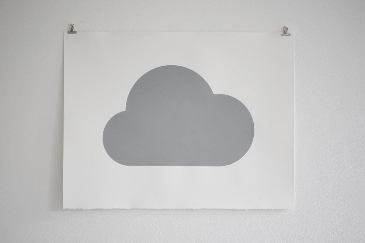 Weather Piece , silkscreen on paper, 2016