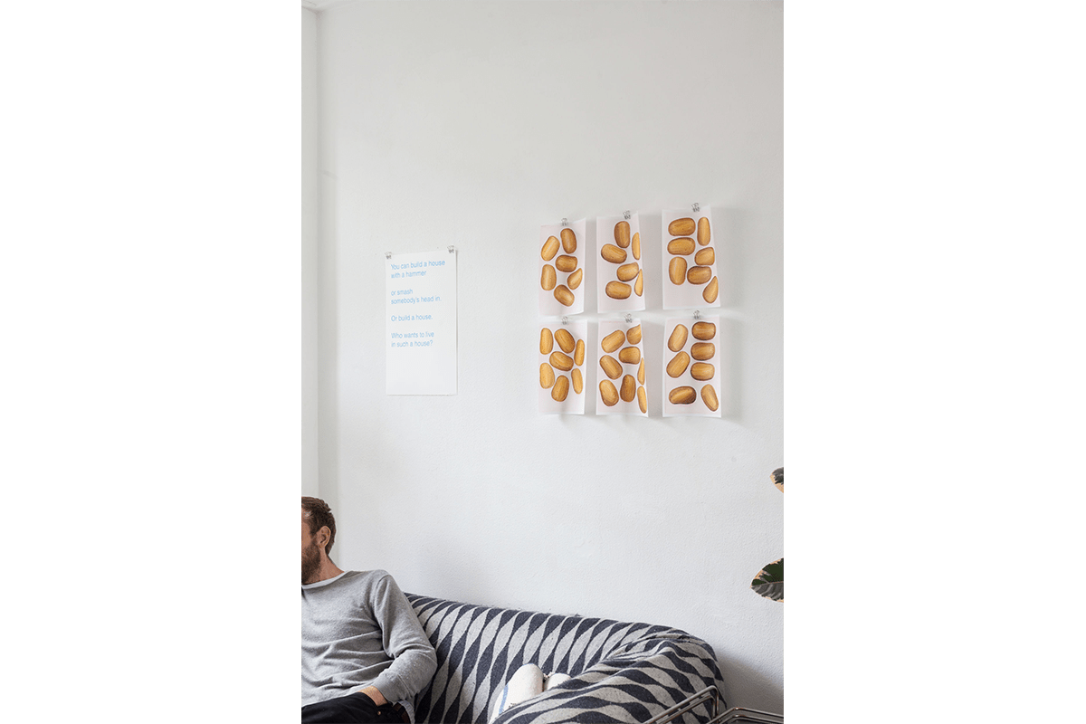 Poems and Potatoes (installation view)