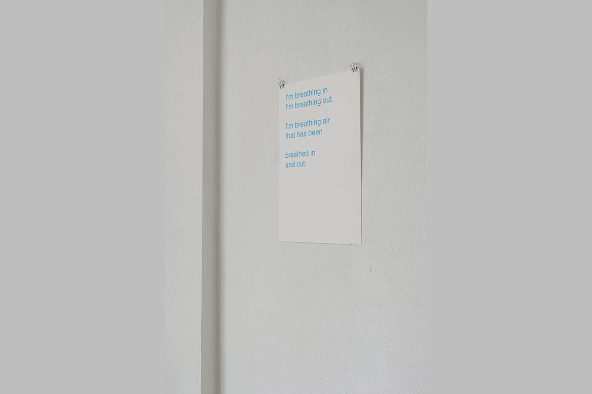 Poem (Breathing Air) - Silkscreen on paper, 2017