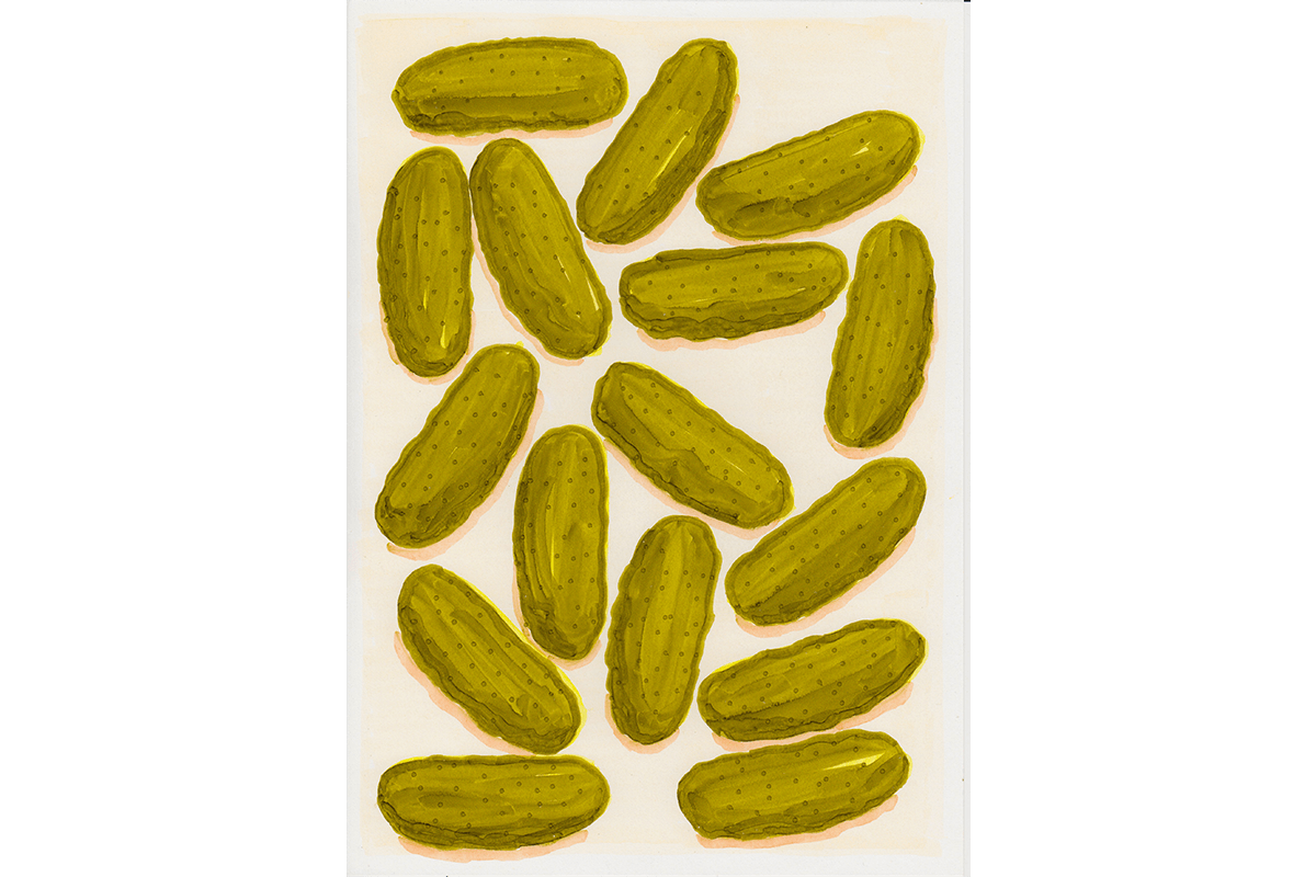 Pickles - Copic drawing on paper, 2017